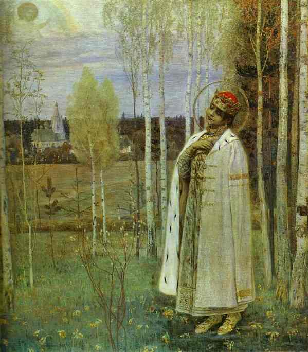 Tzarevich Дмитрий по Mikhail Nesterov (1862-1942, Russian Empire)