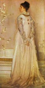 James Abbott Mcneill Whistler - Симфония в плоть Цвет розовый , портрет mrs . Франческа Leyland