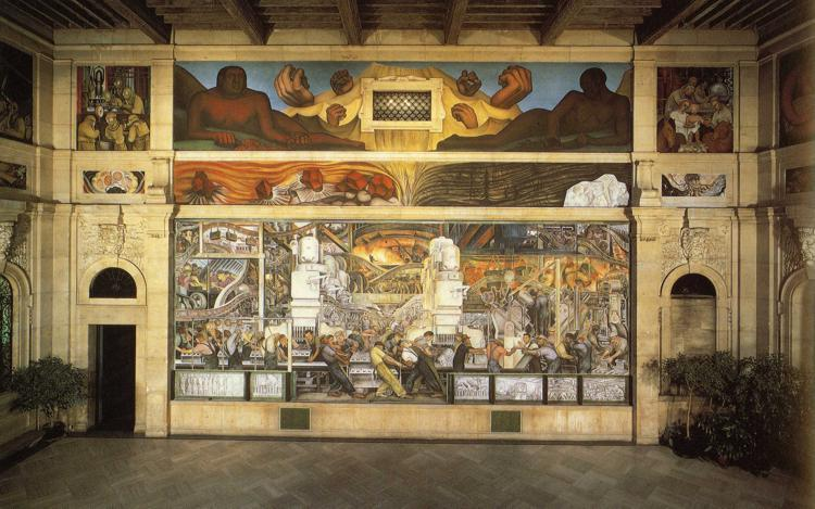 Детройт промышленность по Diego Rivera (1886-1957, Mexico)