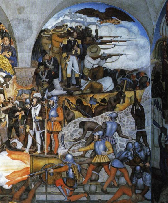 История Мексики, Фрески по Diego Rivera (1886-1957, Mexico)