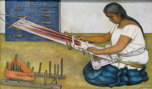 Уивер по Diego Rivera (1886-1957, Mexico)