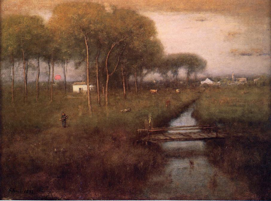 george inness early moonrise - 906×672