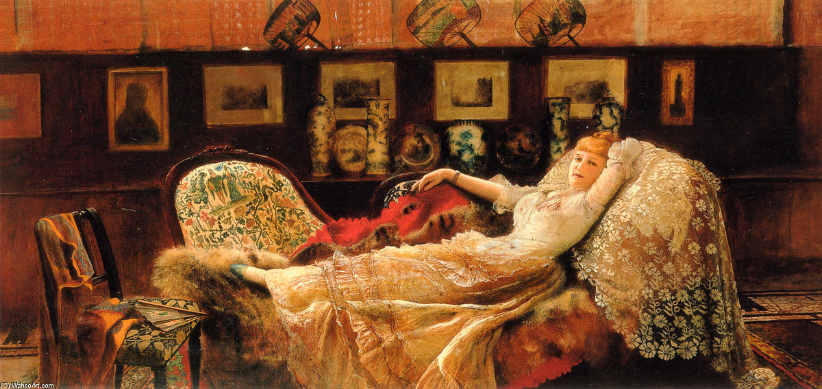 день мечты по John Atkinson Grimshaw (1836-1893, United Kingdom)