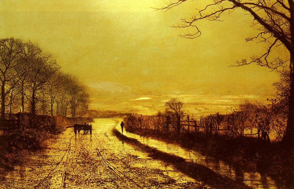 Wharfedale по John Atkinson Grimshaw (1836-1893, United Kingdom)