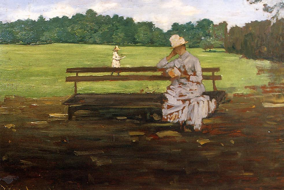 Проспект-парк Бруклин , Пастель по William Merritt Chase (1849-1916, United States)