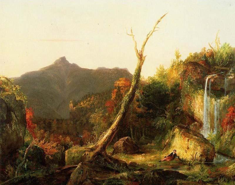 осенний пейзаж ( горы chocorua ), холст, масло по Thomas Cole (1801-1848, United Kingdom)