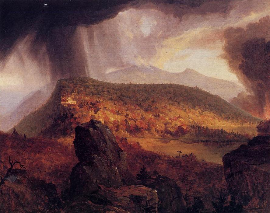 Кэтскилл Mountain House тем  четыре  элементы , холст, масло по Thomas Cole (1801-1848, United Kingdom)