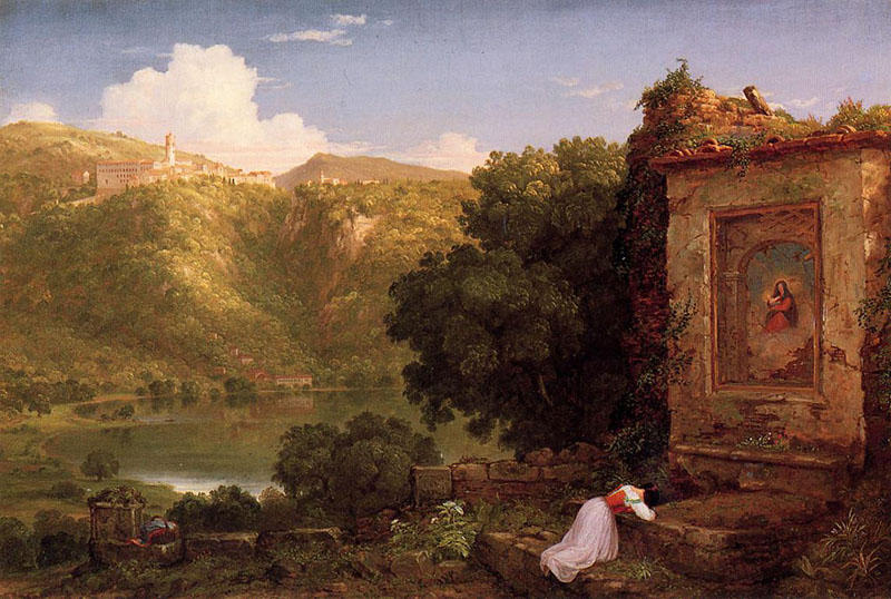 Ил Penseroso по Thomas Cole (1801-1848, United Kingdom)