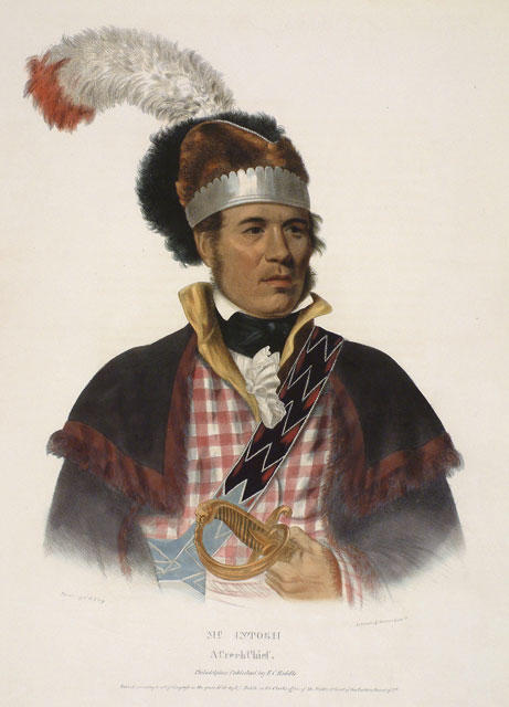 Макинтош, Крик начальника по Charles Bird King (1785-1862, United States)