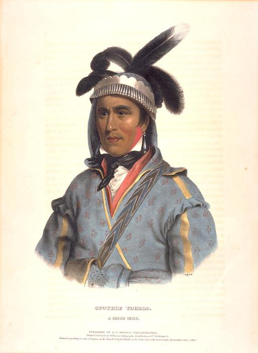 OPOTHLE YOHOLO. КРИК ГЛАВНЫЙ по Charles Bird King (1785-1862, United States)