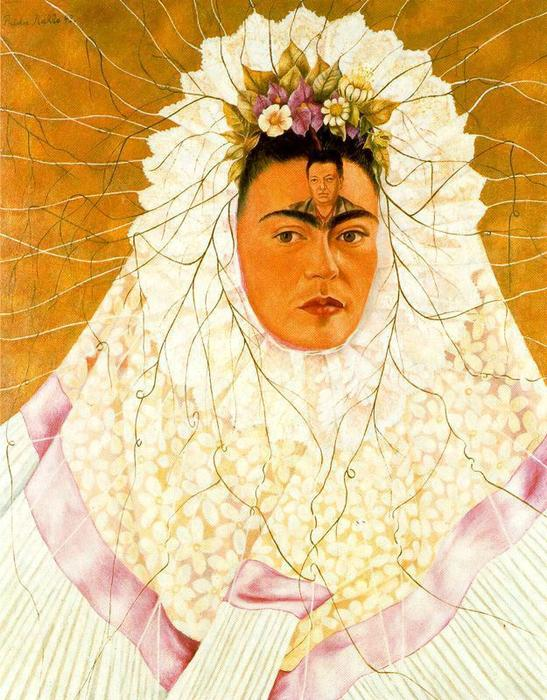 Диего ан миль pensamiento ( фрида де tehuana ), масло по Frida Kahlo (1907-1954, Mexico)