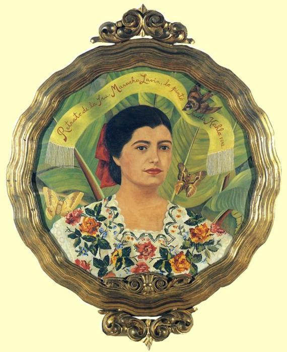 Портрет Marucha Лавин, масло по Frida Kahlo (1907-1954, Mexico)