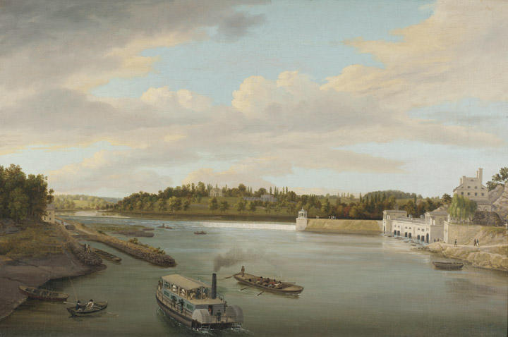 Fairmount воды Работы по Thomas Birch (1779-1851, United Kingdom)