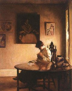 Edmund Charles Tarbell - Девушка Crotcheting