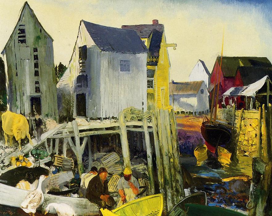 Matinicus, 1916 по George Wesley Bellows (1882-1925, United States) | Качественные Печати В Музеях George Wesley Bellows | ArtsDot.com