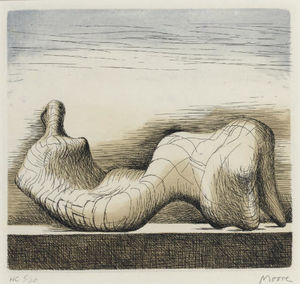 Henry Moore - Лежащая фигура