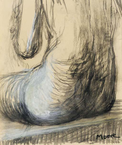 Сидящая женщина Торс , масло по Henry Moore (1898-1986, United Kingdom)