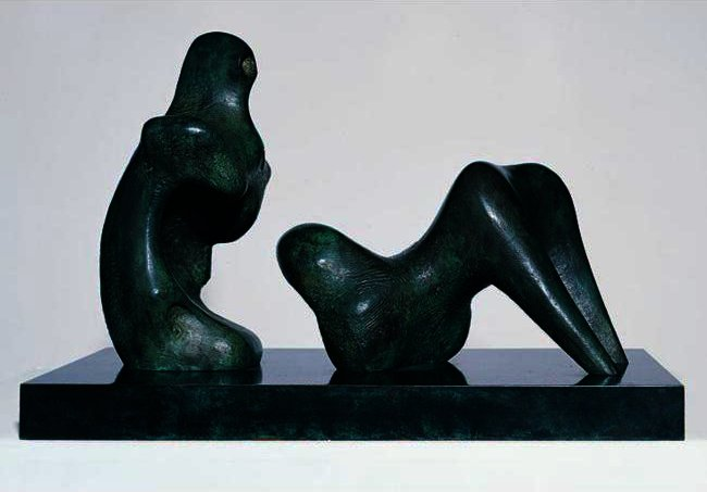 Из двух частей Лежащая Рисунок; Безрукий по Henry Moore (1898-1986, United Kingdom)