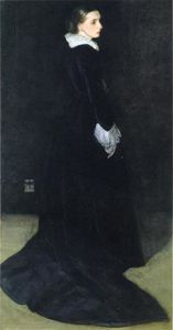 James Abbott Mcneill Whistler - композиция в черном , Нет . 2 . портрет mrs . Луис Хут