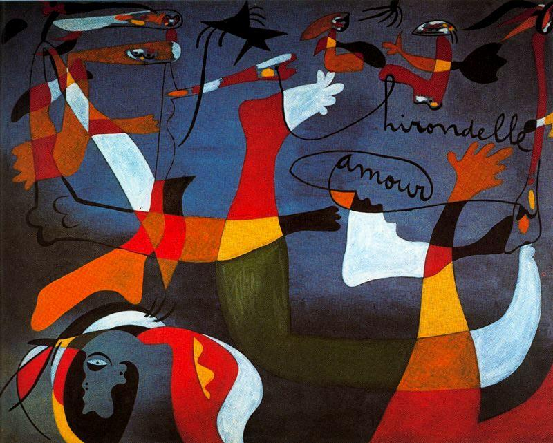 Golandrina amor по Joan Miro (1893-1937, Spain) | ArtsDot.com
