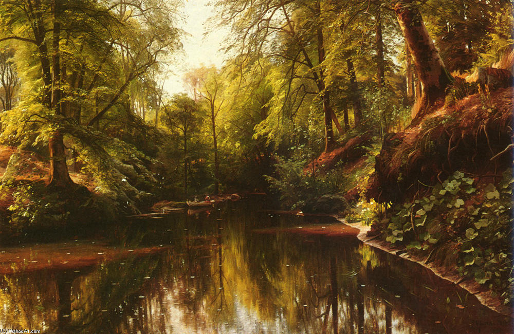 В Seaby по Peder Mork Monsted (1859-1941, Denmark)