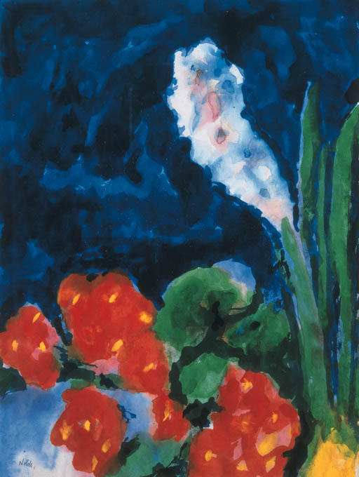 Гиацинт и бегония по Emile Nolde (1867-1956, Germany)