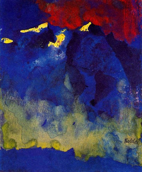 горах по Emile Nolde (1867-1956, Germany)