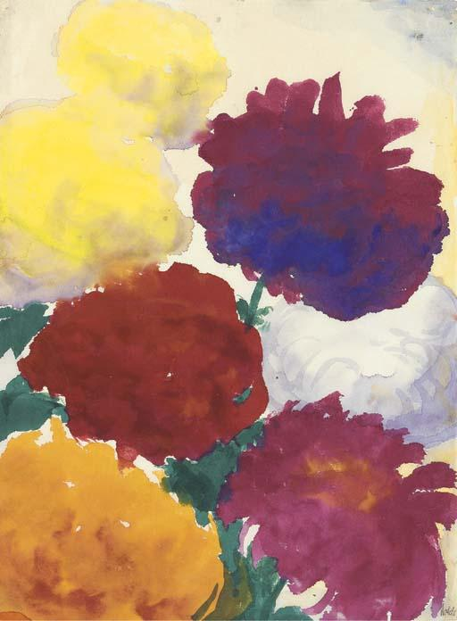 Пионы по Emile Nolde (1867-1956, Germany)