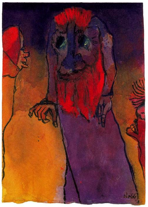 Red-bearded Treeman по Emile Nolde (1867-1956, Germany)