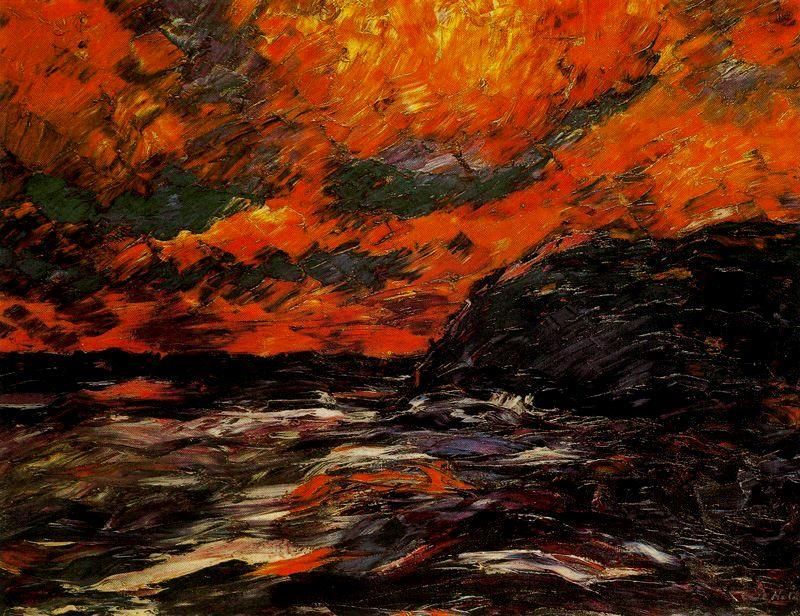 Море в осенний IX по Emile Nolde (1867-1956, Germany)