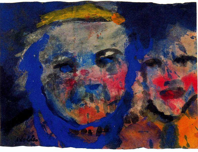 странно Пара  по Emile Nolde (1867-1956, Germany)