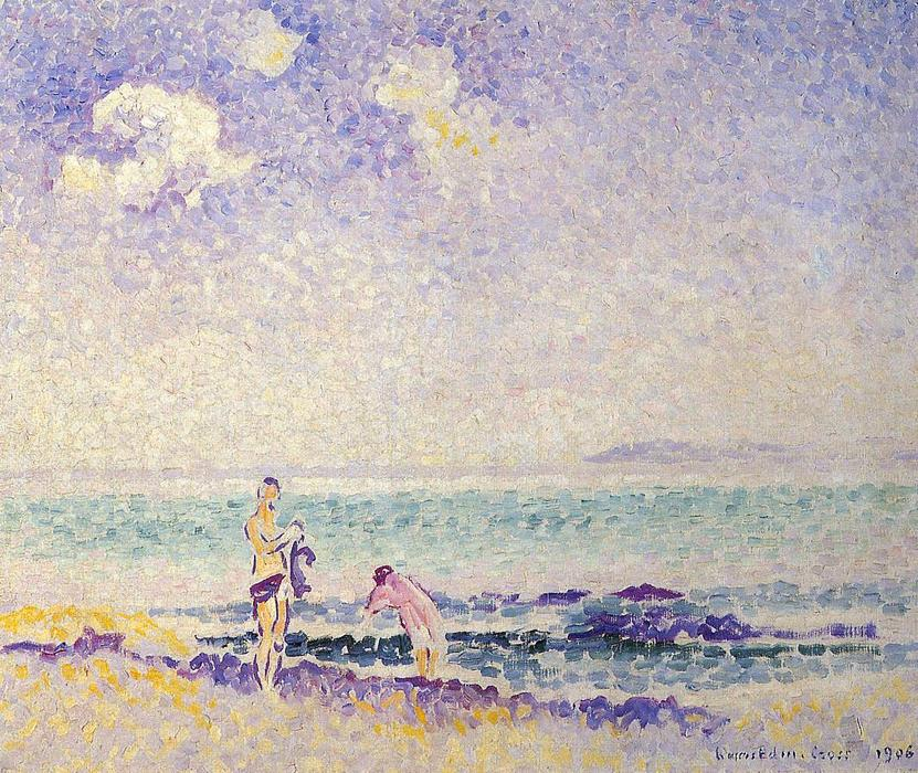 Купальщицы 1 по Henri Edmond Cross (1856-1910, France)