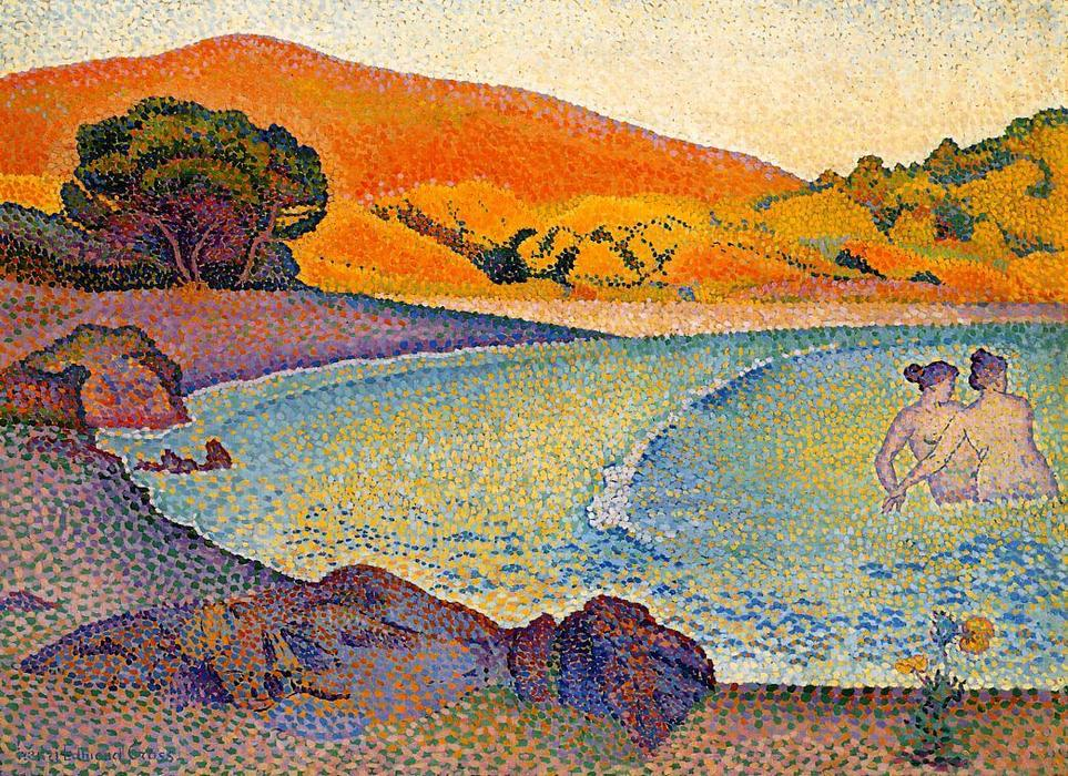 Купальщицы по Henri Edmond Cross (1856-1910, France)