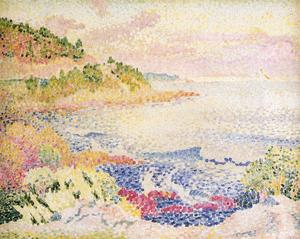 Henri Edmond Cross - Побережье Прованса, Ле дез Чет..