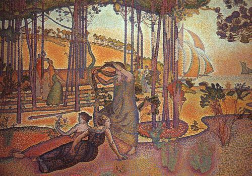 Вечер Бриз, 1893 по Henri Edmond Cross (1856-1910, France)