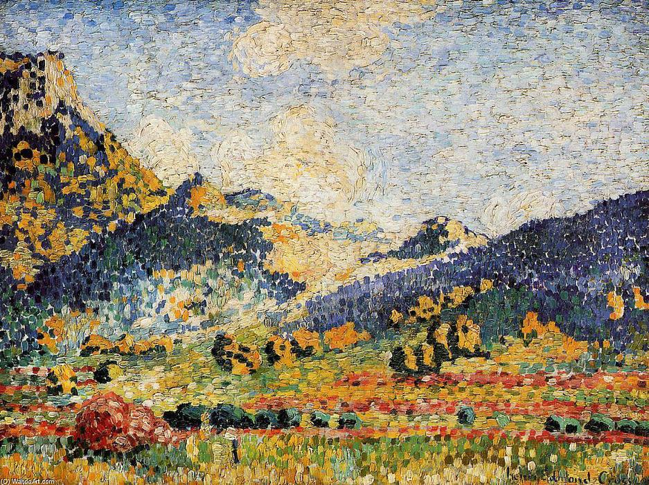 Лес Petits, Montagnes Mauresques, 1909 по Henri Edmond Cross (1856-1910, France)