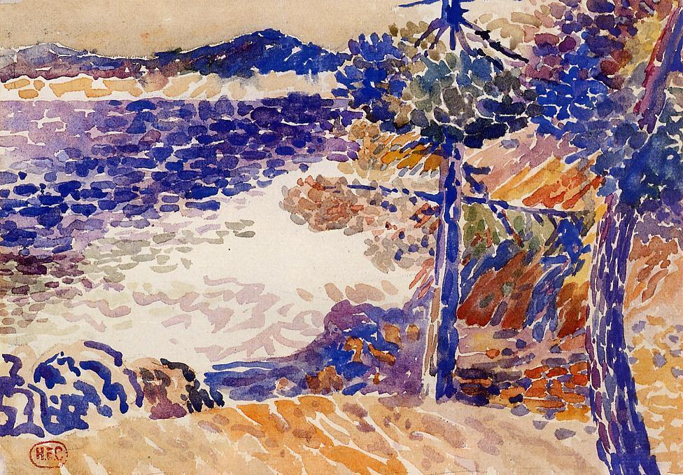 Сосны у моря 1   по Henri Edmond Cross (1856-1910, France)