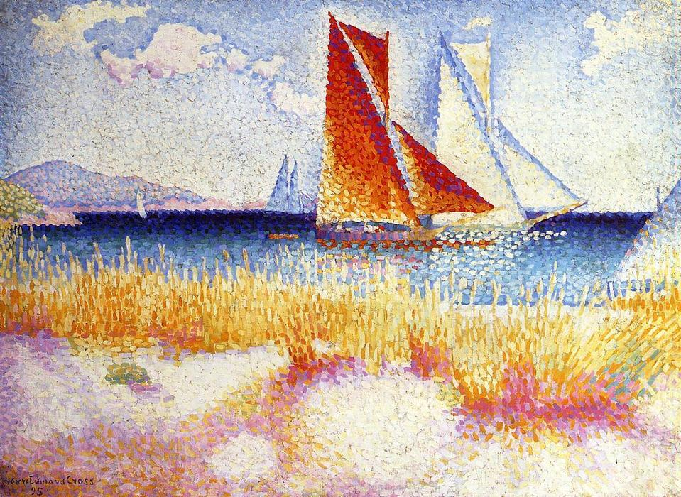 Регата, 1895 по Henri Edmond Cross (1856-1910, France)