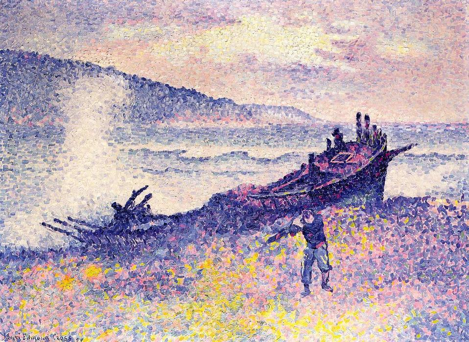 Крушение, 1899 по Henri Edmond Cross (1856-1910, France)