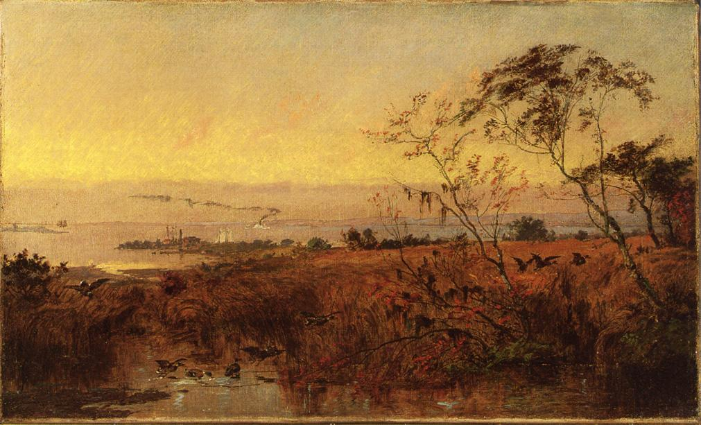 Посмотреть на Chesapeake Bay, холст, масло по Jasper Francis Cropsey (1823-1900, United States)