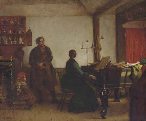 Играть мне Tune по Jonathan Eastman Johnson (1824-1906, United Kingdom)