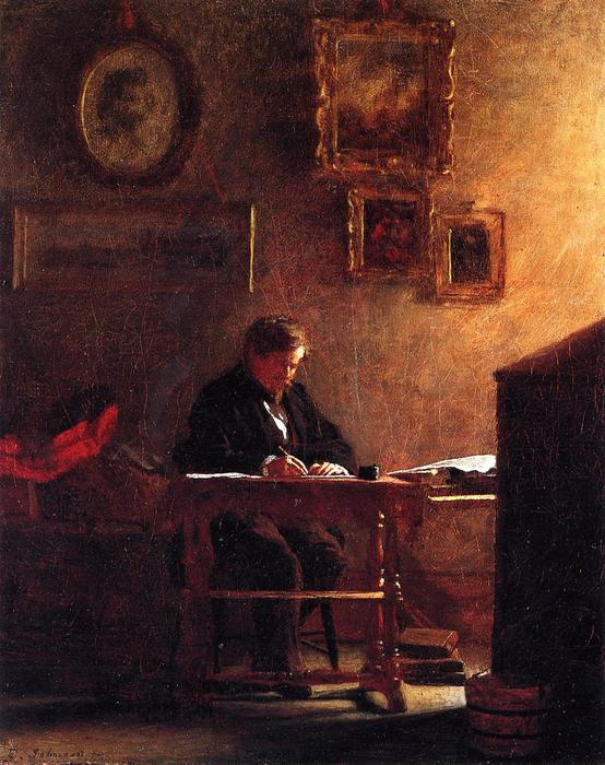 автопортрет 1 по Jonathan Eastman Johnson (1824-1906, United Kingdom)