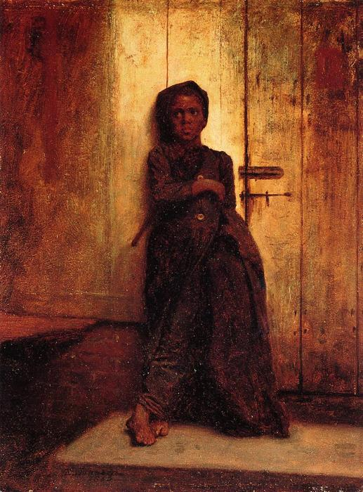 Молодой развертки по Jonathan Eastman Johnson (1824-1906, United Kingdom)