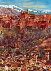 Jorge Apperley (George Owen Wynne Apperley) - В Alhambra от моего студии