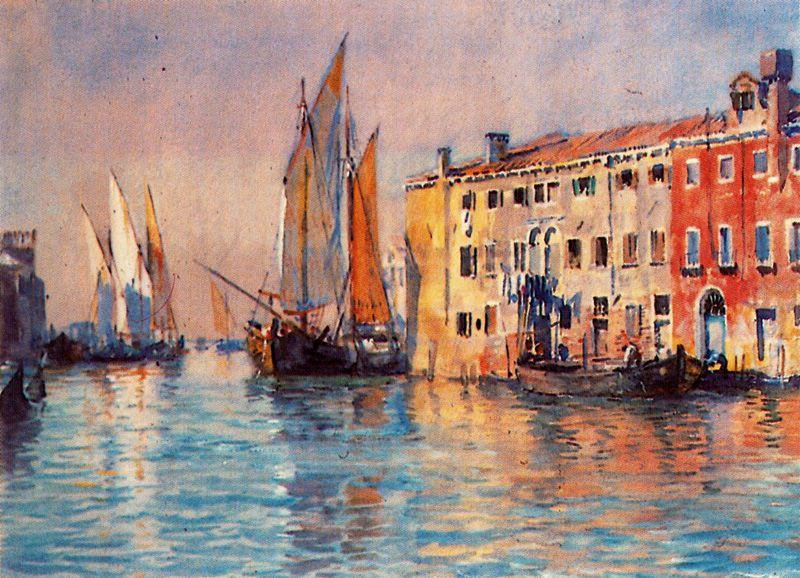 Venice 1 по Jorge Apperley (George Owen Wynne Apperley) (1884-1960, United Kingdom) | Искусство Воспроизведение | ArtsDot.com