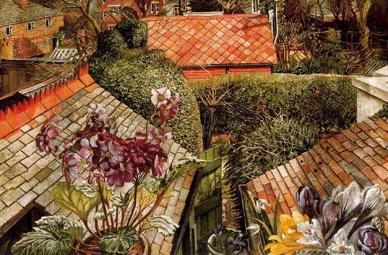 Кукхем Цветы  в     Окно  по Stanley Spencer (1891-1959, United Kingdom) | ArtsDot.com