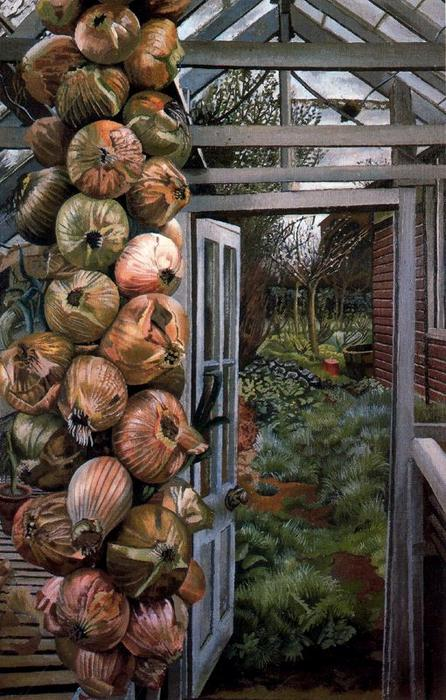 теплица и Сад  по Stanley Spencer (1891-1959, United Kingdom)