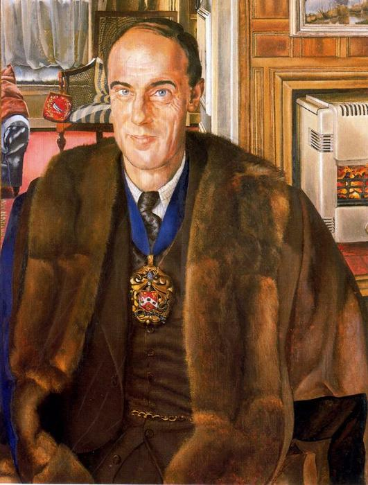 Портрет of J . Э . Martineau по Stanley Spencer (1891-1959, United Kingdom)