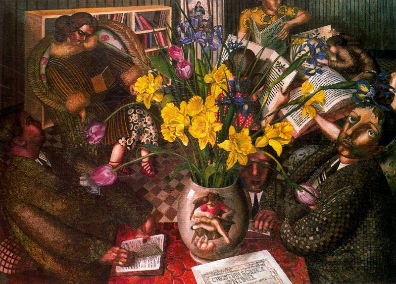 молчание молитва по Stanley Spencer (1891-1959, United Kingdom) | Картина Копия | ArtsDot.com