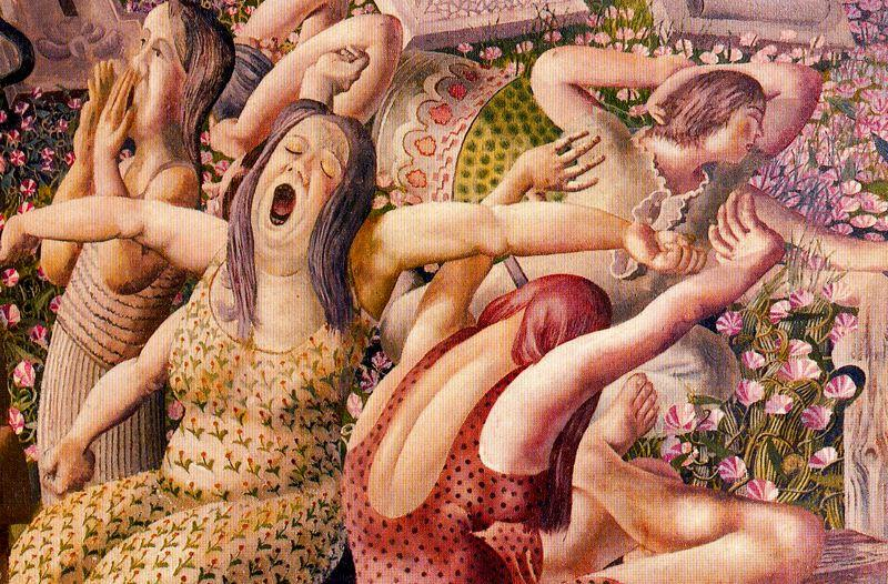 Воскресение. Wakin до по Stanley Spencer (1891-1959, United Kingdom)